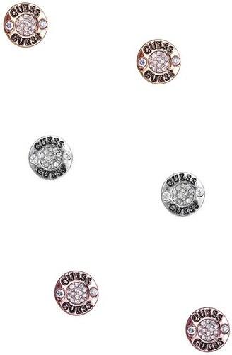 9fb17b811 GUESS náušnice Tri-tone Logo Button Stud Earrings Set P675940021A ...