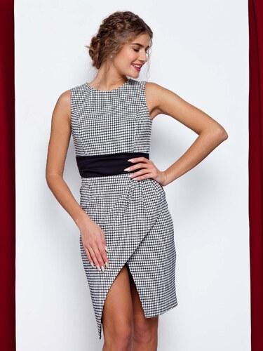 Elegantné bielo-čierne šaty - GR1588 odtiene farieb  biela - Glami.sk 094c83fc1ae