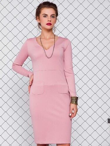 a4a3c313140c Dámske ružové šaty - GR1075 odtiene farieb  ružová - Glami.sk