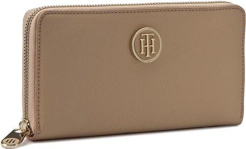3b58f2928f Velká dámská peněženka TOMMY HILFIGER - Honey Large Z A Wallet Solid  AW0AW03578 062