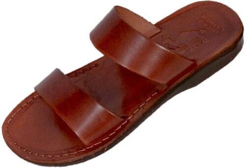 d65cf32c3186 Faraon-Sandals TAHARKA Kožené papuče ručne šité 015 TAHARKA 46 ...