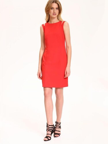 Top Secret šaty dámské červené s průstřihy na ramenou bez rukávu ... c18d229020