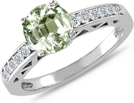 Zasnubni Prsten S Ametystem A Diamanty Klenota K0017032 Glami Cz