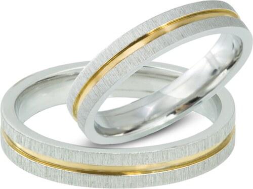 Snubni Prsteny Z Kombinace Zluteho A Bileho Zlata Klenota Glami Cz