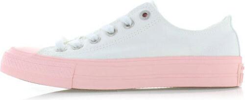 676da4c42bb Converse Dámské bílo-růžové nízké tenisky Chuck Taylor All Star II ...
