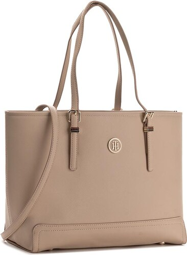 89528059fe Kabelka TOMMY HILFIGER - Honey Medium Tote Solid AW0AW03631 062 ...