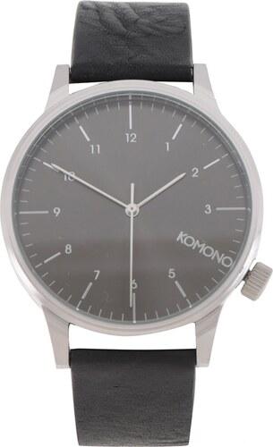48d0a1d0b Unisex hodinky s černým koženým páskem Komono Winston Regal - Glami.cz