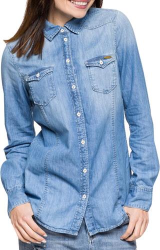 Pepe Jeans dámská džínová košile Periwinkle - Glami.cz f25c8fbf14