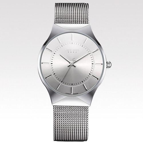 Dámské hodinky Flat stříbrné - Glami.cz e237109f59