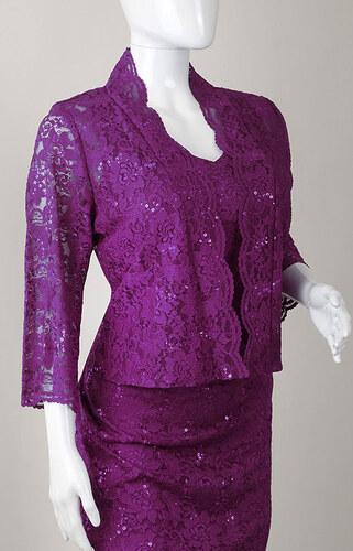 Glamor Čipkované fialové šaty na svadbu pre svadobné matky - Glami.sk a1269991a2b