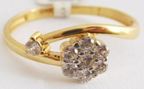 9840be81f Pretis Dámský mohutný zlatý prsten se zirkony vel.58 585/1,35gr 1111363