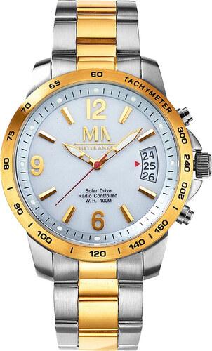 aec36356588 Pánské solární rádiem řízené hodinky Meister Anker bicolor - Glami.cz