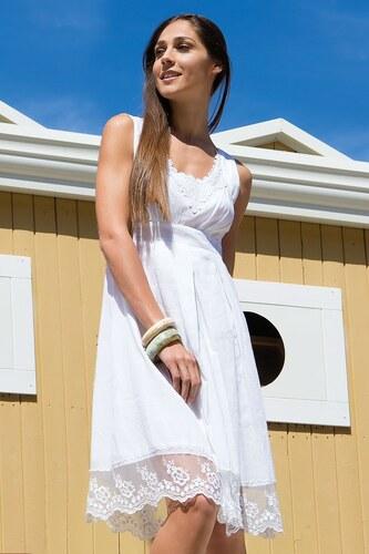 ac2ea1713a65 Dámske letné šaty Gaia z kolekcie Iconique biela - Glami.sk