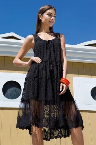 9074019ae1ce Dámske letné šaty Viola z kolekcie Iconique čierna - Glami.sk