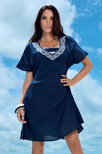 Dámske plážové šaty Lucia z kolekcie David Mare modro-biela - Glami.sk 5f273ecca2