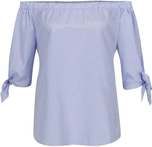 5a345a0ab9 Modrá pruhovaná blúzka s odhalenými ramenami Haily´s Rinary - Glami.sk