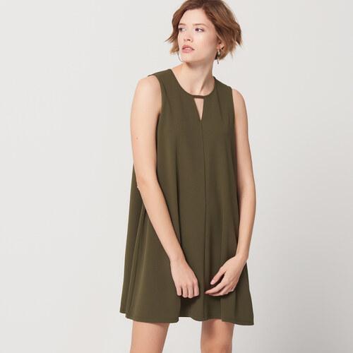 Mohito - Lichoběžníkové šaty s průstřihem - Zelená - Glami.cz 26f5f87ee6