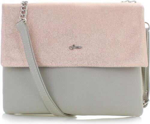 Grosso Ružovo-sivá kabelka Dolores - Glami.sk ca42a9b2e7c