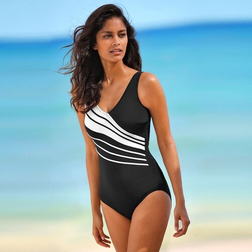 Blancheporte Jednodielne plavky čierna biela - Glami.sk 455d5b17d2