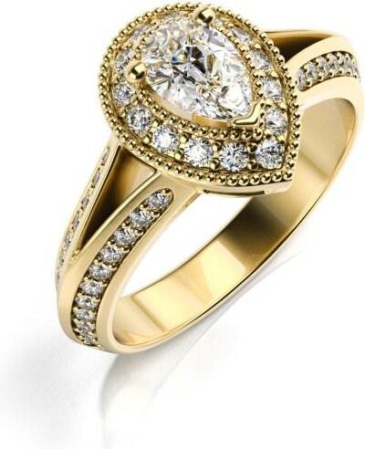 521bb5c21 Eppi Zásnubný zlatý prsteň s diamantmi Velia - Glami.sk