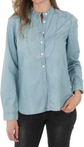 Dámská světle modrá džínová košile Tommy Hilfiger - Glami.cz fa25bcad45