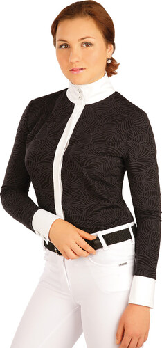 LITEX Košile dámská. J1144901 černá S - Glami.cz 43afdef71c