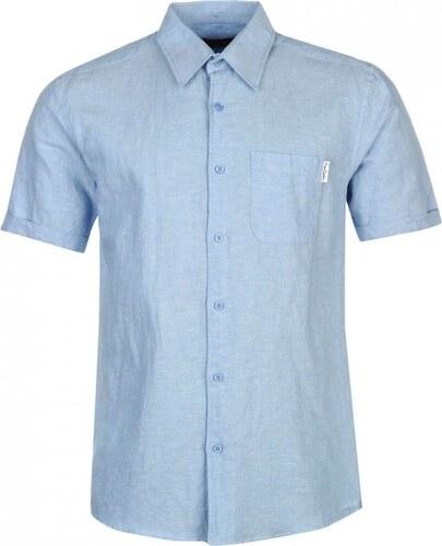 Pierre cardin short sleeve linen shirt mens light blue for Mens light blue linen shirt