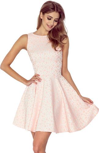 Strikingstyle 125-14 Elegantné rozšírené šaty   broskyňové - Glami.sk e98d1bb305f