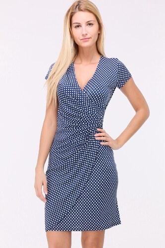 80ea42a7a51 REVDELLE Letní puntíkaté šaty CAMILLES BLUE - Glami.cz