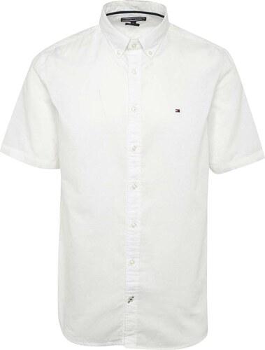 Krémová pánská košile s příměsí lnu Tommy Hilfiger - Glami.cz 620b940466