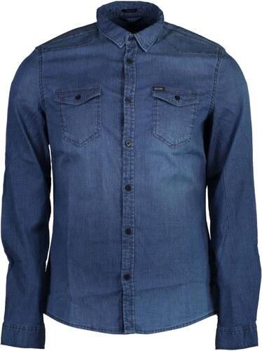 Pánská košile Guess Jeans - Modrá   S - Glami.cz f93c7cc5c1