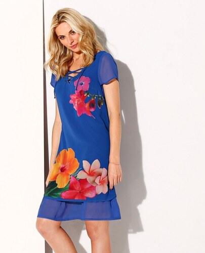 Blancheporte Volánové šaty s potlačou modrá - Glami.sk 36c496d630c