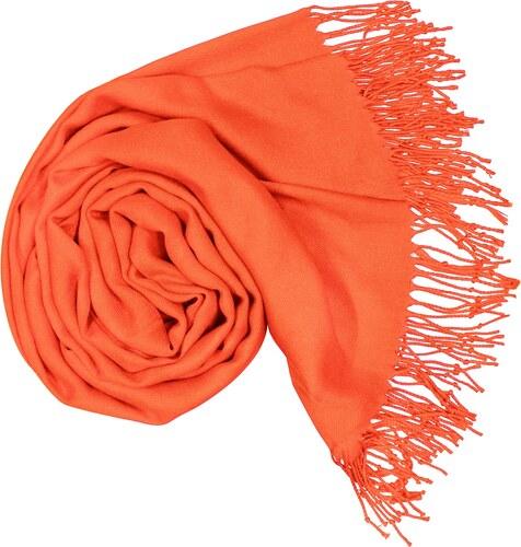 f9e4eccf32b Carlo Romani s. r. o. Dámská oranžová pašmína   Dámská oranžová šála ...