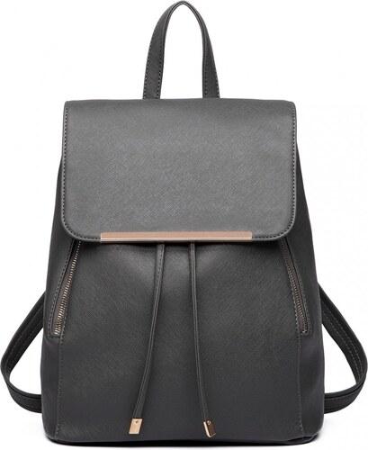 583b831361f Lulu Bags (Anglie) Stylový dámský modní batoh E1669 šedý - Glami.cz
