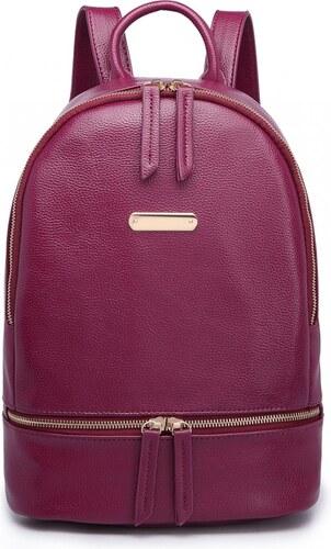 22b8323f9d Lulu Bags (Anglie) Vínově červený dámský elegantní batoh Miss Lulu ...