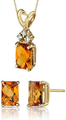 fd056f909 Eppi Zlatá kolekcia šperkov s citrínmi a diamantmi Sofia - Glami.sk