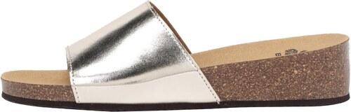 d543b57a6500 Dámske zdravotné šľapky v zlatostriebornej farbe Scholl Vinny - Glami.sk