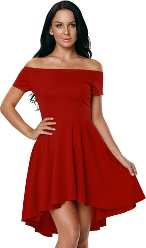 69ef2424a4f4 NoName 001 Společenské šaty červené s kolovou sukní - Glami.cz