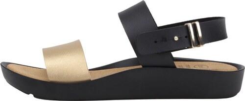 c616a84a4d07 Černé dámské zdravotní sandály s detailem ve zlaté barvě Scholl Mamore