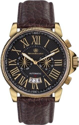 Mathis Montabon Pánské hodinky MM-04 Classique Moderne gold schwarz Leder 49930555731