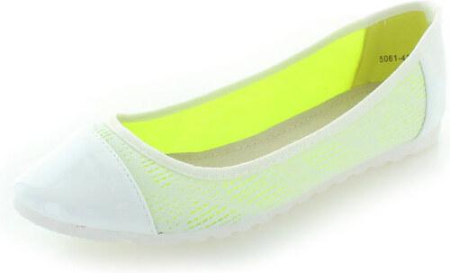dca94b29ce Vices Fehér balerina cipő Maggie - Glami.hu