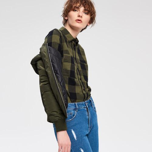 f5c53d80d4 Cropp - Kockovaná košeľa - Zelená - Glami.sk