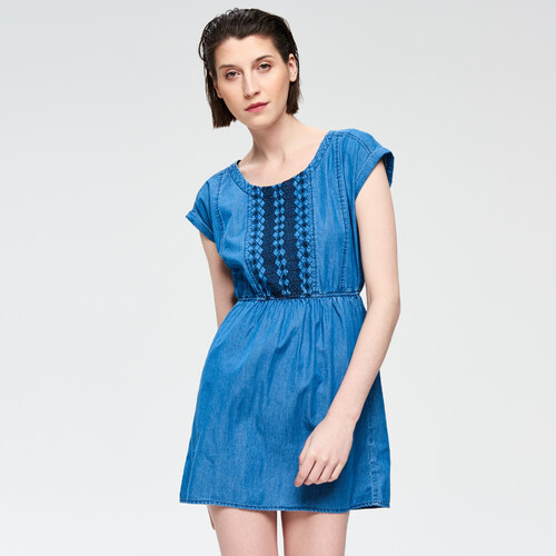 e63d7ed12f93 Cropp - Dámske šaty - Modrá - Glami.sk