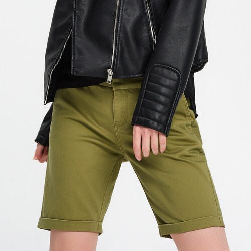 Cropp - Vyhrnuté šortky - Zelená - Glami.sk fec4dd5038