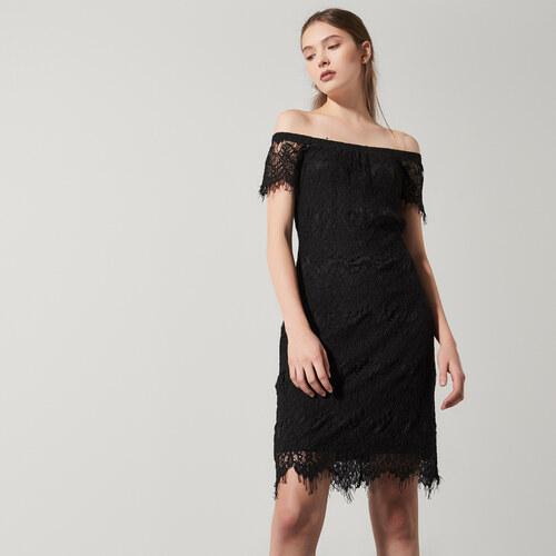 4f62f5410f1e House - Čipkované šaty s odhalenými ramenami - Čierna - Glami.sk