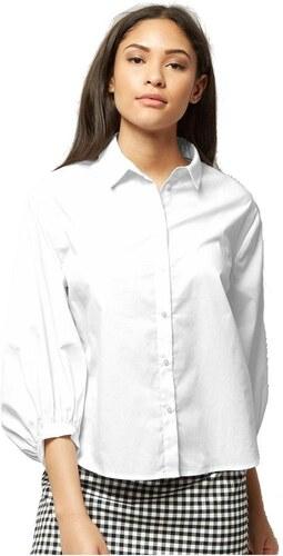 8f85d7927731 NEW LOOK Biela košeľa s balónovými rukávmi - Glami.sk