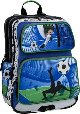 Bagmaster GALAXY 6 D BLUE GREEN WHITE Klučičí školní batoh fotbal ... 9770d0d59e