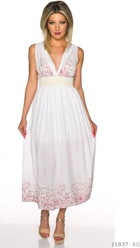 9c475040b45 Dlouhé letní šaty - bílé - Glami.cz