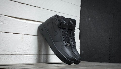 Nike Air Force 1 Mid (GS) Black  Black - Glami.cz a80673c572