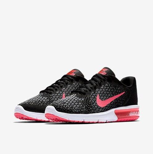 NIKE2 Dámská obuv Nike Air Max Sequent 2 Running 41 ČERNÁ - RŮŽOVÁ ... 3554a93629